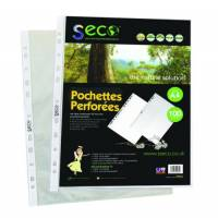 Rapesco Eco Punched Pockets A4 Clear Pack of 100 1104