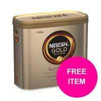 Nescafe Gold Blend Instant Coffee Tin 750g Ref 12339209 Buy 2 Get Kit Kat Senses Chocs 200g Jan-Mar 20