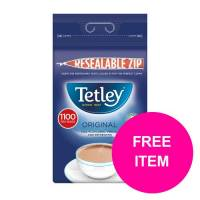 Tetley One Cup Teabags Tea Ref 1018K Pack 1100 Buy 2 Get Tetley Cold Infusions Starter Kit Jan-Mar 20