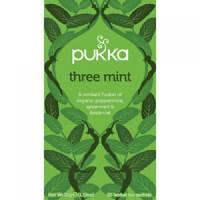 Pukka Individually Enveloped Tea Bags Three Mint Ref 5065000523435 Pack 20