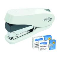 Rapesco ECO Luna Less Effort Stapler Capacity 50 Sheets White 1467