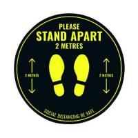 SDist Floor Sticker 400mm Circ Pk5