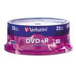 Image for Dvd+r Discs, 4.7gb, 16x, Spindle, Silver, 25/pack