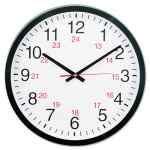 Image for 24-HOUR ROUND WALL CLOCK, 12.63