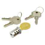 Image for Lock Core For Metal Pedestals, Chrome, Set