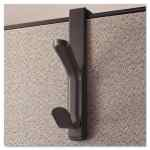 Image for Recycled Cubicle Double Coat Hook, Plastic, Charcoal