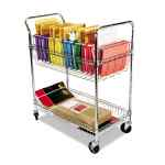 Image for CARRY-ALL CART/MAIL CART, TWO-SHELF, 34.88W X 18D X 39.5H, SILVER