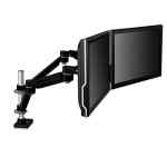 Image for EASY-ADJUST DUAL MONITOR ARM, 4.5W X 25.5D X 27H, BLACK/GRAY