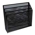 Image for DELUXE MESH THREE-TIER ORGANIZER, 3 SECTIONS, LETTER SIZE FILES, 12.63