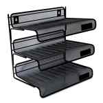 Image for DELUXE MESH THREE-TIER DESK SHELF, 3 SECTIONS, LETTER SIZE FILES, 13.25
