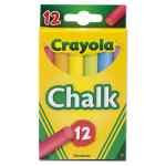 Image for CHALK, 6 ASSORTED COLORS, 12 STICKS/BOX