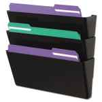 Image for WALL FILE, THREE POCKET, PLASTIC, BLACK