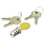 Image for Key-Alike Lock Core Set, Brushed Chrome