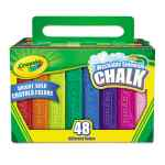Image for Washable Sidewalk Chalk, 48 Assorted Bright Colors, 48 Sticks/set