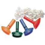 Image for Color-Coded Coin Counting Tubes F/pennies Through Quarters