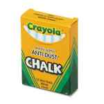 Image for Nontoxic Anti-Dust Chalk, White, 12 Sticks/box