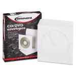 Image for Cd/dvd Envelopes, Clear Window, White, 50/pack