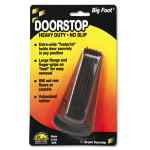 Image for BIG FOOT DOORSTOP, NO SLIP RUBBER WEDGE, 2.25W X 4.75D X 1.25H, BROWN
