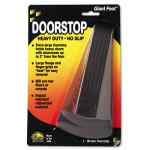 Image for GIANT FOOT DOORSTOP, NO-SLIP RUBBER WEDGE, 3.5W X 6.75D X 2H, BROWN