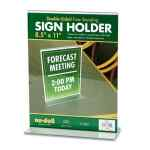 Image for Acrylic Sign Holder, 8 1/2 X 11, Clear