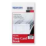 Image for Employee Time Card, Daily, Two-Sided, 4-1/4 X 7, 100/pad