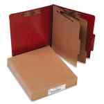 Image for 20 PT. PRESSTEX CLASSIFICATION FOLDERS, 2 DIVIDERS, LETTER SIZE, RED, 10/BOX
