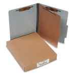 Image for 20 PT. PRESSTEX CLASSIFICATION FOLDERS, 1 DIVIDER, LETTER SIZE, GRAY, 10/BOX