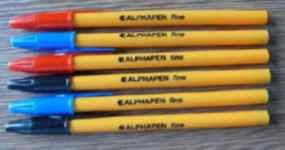 Image for Alphapen Ball Point Pen Black Fine Point 0.3mm Pack of 20. Made in Europe. No Tungsten Carbide.