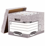 Image for Fellowes Bankers Box System Heavy Duty Storage Box Grey PK10