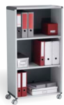 Image for Fast Paper Mobile 3 Compartment Bookcase Grey/Charcoal