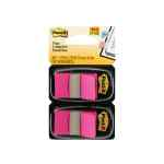 Image for 100 x Post-it Index Tabs Pink (Includes twin Post-It index dispenser) 680-BP2EU