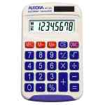 Image for Aurora 8 Digit Pocket Calculator White HC133