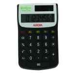 Image for Aurora Black /White 8-Digit Handheld Calculator EC101