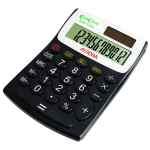 Image for Aurora Black /White 12-Digit Semi-Desk Calculator EC404