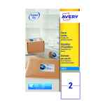 Image for Avery QuickDRY White Inkjet Labels 199.6 x 143.5mm 2 Per Sheet Pack of 50 J8168-25