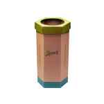 Image for 2Work Recycling Bin Green (Pack of 3) CAP582758/A