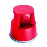 Image for 2Work Plastic Step Stool Red T7/Red