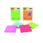 Image for Post-It Assorted Neon/Ultra Super Sticky Notes 4X4 90 Sheets 70005115673