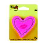 Image for Post-it Heart With Lips Neon Pink Notes (Adheres to most surfaces and removes easily) 6370-HTL