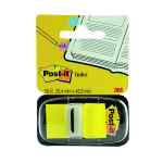 Image for 3M Post-it Index Tab 25mm Yellow with Dispenser 680-5