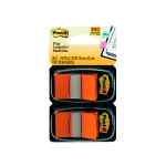 Image for 100 x Post-it Index Tabs Orange (Size: 25mm comes with twin dispenser) 680-O2EU