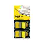 Image for 100 x Post-it Index Tabs Yellow (Size: 25mm comes with twin dispenser) 680-Y2EU
