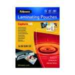 Image for Fellowes A4 Capture Laminating Pouch 250 Micron (Pack of 100) 55307401