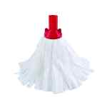 Image for 10 x Exel Big White Mop Head Red (Can absorb 3 times its own weight) 102199RD