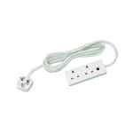 Image for 2-Way 13 Amp 5m Extension Lead White with Neon Light CEDTS2513M