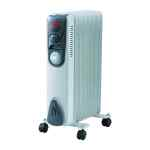 Image for 1.5kw Oil Filled Radiator with Timer CR15T