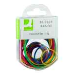Image for Q-Connect Rubber Bands Assorted Sizes Coloured 15g (Pack of 10) KF02032Q