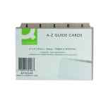 Image for Q-Connect Guide Card 152x102mm A-Z Buff (Pack of 25) KF35208