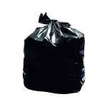 Image for 2Work Light Duty Refuse Sack Black (Pack of 200) KF73375