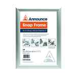 Image for Announce A4 Snap Frame (25mm anodised aluminium frame, Wall fixings included) PHT01808